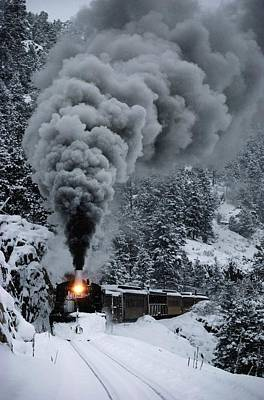 Natural Forces Photograph - The Durango And Silverton Narrow Gauge by Paul Chesley