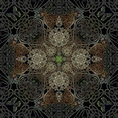 Digital Art - The Dust In The Garden by Deborah Runham