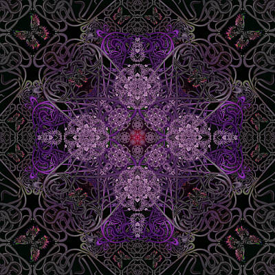 Digital Art - The Dust In The Garden Purple by Deborah Runham