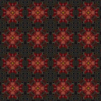 Digital Art - The Dust In The Garden Reds Reduced by Deborah Runham
