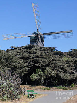 Photograph - The Dutch Windmill San Francisco Golden Gate Park San Francisco California 5d3254 by San Francisco Art and Photography
