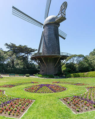 Photograph - The Dutch Windmill San Francisco Golden Gate Park San Francisco California Dsc6361 by San Francisco Art and Photography