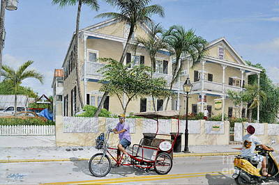 Painting - The Duval House, Key West, Florida by Bob George