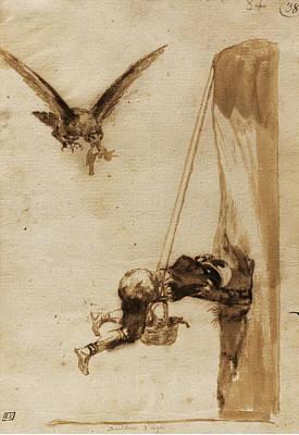 Drawing - The Eagle Hunter by Francisco Goya