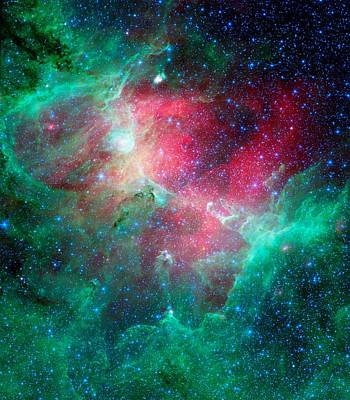 The Eagle Nebula In The Serpens Constellation Art Print by American School