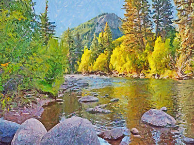 Digital Art - The Eagle River In October by Digital Photographic Arts