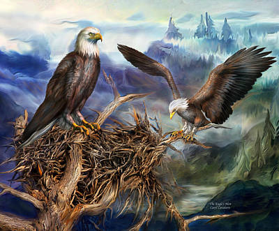 Eagle Mixed Media - The Eagle's Nest by Carol Cavalaris