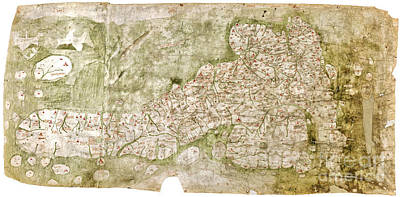 Painting - the earliest extant map of England and Scotland by Celestial Images