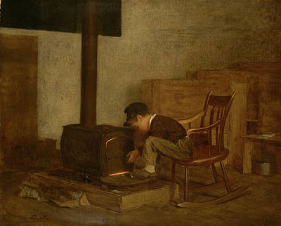 Furnace Painting - The Early Scholar by Eastman Johnson