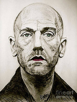 Musicians Drawings - The Early Years Of Michael Stipe by Dianne Lynn Benanti