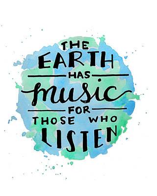 The Earth Has Music 8x10 Art Print by Michelle Eshleman