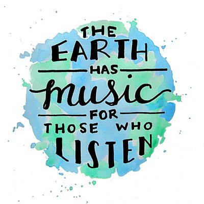 The Earth Has Music Square Art Print