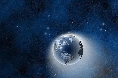 Digital Art - The Earth In Space by Carol and Mike Werner
