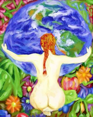 Painting - The Earth Is My Mother by Shelley Bain
