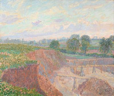 The Earthworks Or The Sandpit Art Print by Spencer Frederick