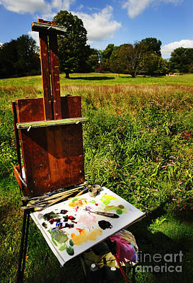 The Easel Art Print by Jim  Calarese