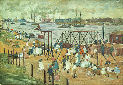 Photograph - The East River by Maurice Prendergast