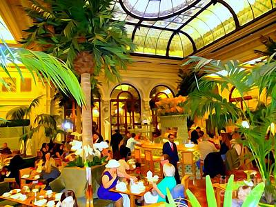 Photograph - The Easter Holiday Tea At The Palm Court by Ed Weidman