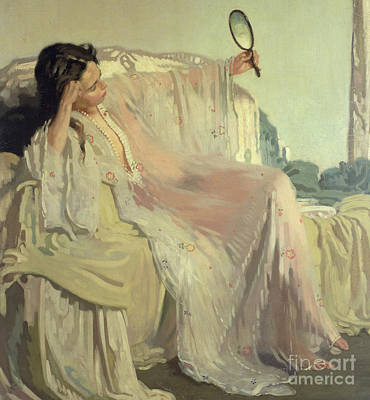 Woman Underwear Painting - The Eastern Gown by Sir William Orpen