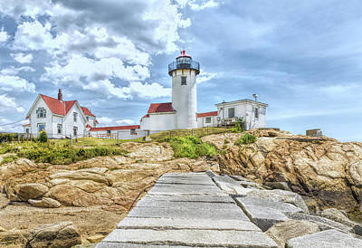 Photograph - The Eastern Point Lighthouse In Gloucester by John M Bailey
