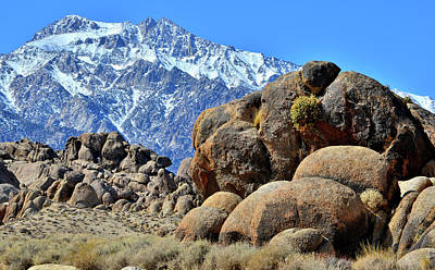 Photograph - The Eastern Sierras And Alabama Hills by Ray Mathis