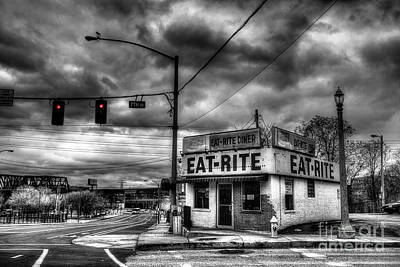 Digital Art - The Eat Rite Diner by William Fields