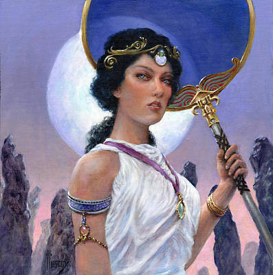 Stonehenge Painting - The Eclipse by Richard Hescox
