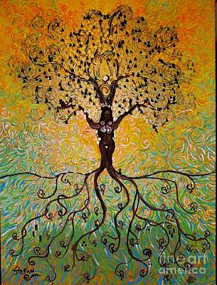 Painting - Eclipse In The Tree Of Life by Stefan Duncan