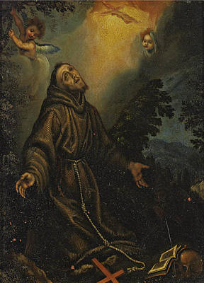 Catholic For Sale Painting - The Ecstasy Of Saint Francis by Fabrizio Boschi
