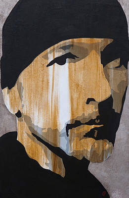 U2 Painting - The Edge by Brad Jensen