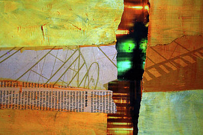 Mixed Media - The Edge by Nancy Merkle