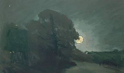 Painting - The Edge Of A Heath By Moonlight 1810  by Constable John