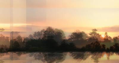 Digital Art - The Edge Of Dawn - Sunrise by rd Erickson