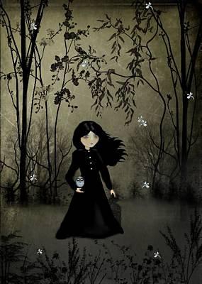 Goth Girl Digital Art - The Edge Of Night by Charlene Zatloukal