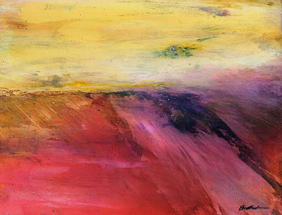 Wall Art - Painting - The Edge Of Summer - Expressive Landscape by Alexis Bonavitacola