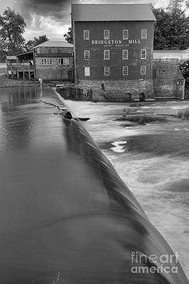 Photograph - The Edge Of The Spillway Black And White by Adam Jewell