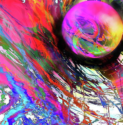 Digital Art - The Edge Of Warp  by Expressionistart studio Priscilla Batzell