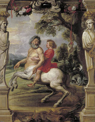 Belgium Painting - The Education Of Achilles by Peter Paul Rubens