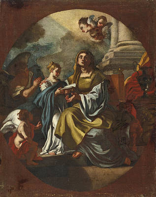 Painting - The Education Of The Virgin by Studio of Francesco Solimena
