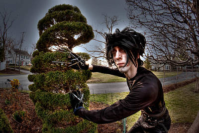 Edward Scissor Hands Photograph - The Edward Look by Katrina  McKinnis