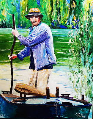 Painting - The Eel Catcher by Valerie Curtiss