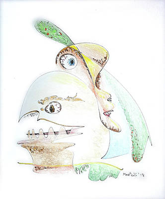 Drawing - The Egg And I by Dave Martsolf