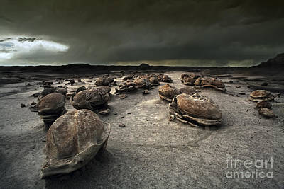Monsoon Photograph - The Egg Factory - Bisti Badlands by Keith Kapple