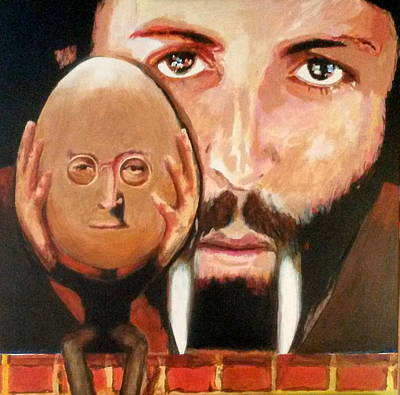 Icon Painting - The Eggman And The Walrus by Gordon Irving