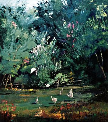 The Egrets Have Landed Art Print by Jimmie Trotter