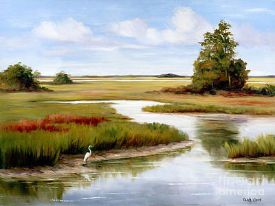 Egret Painting - The Egrets World by Glenda Cason