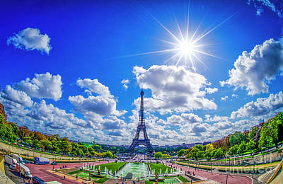 Paris Skyline Royalty-Free and Rights-Managed Images - The Eiffel Tower #1 by Julian Starks
