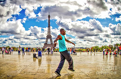 Paris Skyline Royalty-Free and Rights-Managed Images - The Eiffel Tower #11 by Julian Starks
