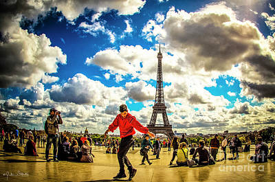 Paris Skyline Royalty-Free and Rights-Managed Images - The Eiffel Tower #12 by Julian Starks