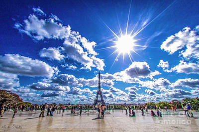 Paris Skyline Royalty-Free and Rights-Managed Images - The Eiffel Tower #2 by Julian Starks